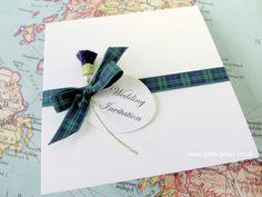 Folded, Pocket and Wallet Invitations harris tweed wedding invitations. Handmade Greetings, Greeting Cards Handmade, Wedding Stationery, Wedding Invitations, Invites, Scottish Wedding Themes, Tartan Wedding, Irish Celtic, Classic Wedding Dress