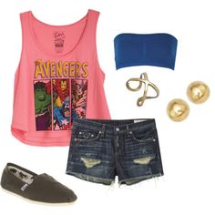The Avengers by peyton-brown on Polyvore featuring rag & bone and TOMS