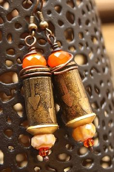 Beautifully Etched Bullet Casing Earrings – Candy