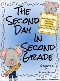 This September packet is good pass up! It is over 60 pages of games, activities and printables to help celebrate the second day of second grade and beyond. 2nd Grade Ela, Second Grade Teacher, 2nd Grade Classroom, 2nd Grade Reading, School Classroom, Classroom Ideas, Future Classroom, Classroom Organization, Organizing