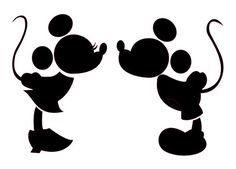 Mickey and Minnie Kiss. Very cute disney mickey cut file for silhouette cameo. Made In Wonderland By Alice: Gratis fil til silhouette cameo Silhouette Mickey Mouse, Kissing Silhouette, Silhouette Clip Art, Silhouette Cameo Projects, Free Silhouette, Princess Silhouette, Silhouette Cameo Wedding, Silhouette Cameo Disney, Disney Castle Silhouette