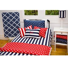Lullaby Linen Brighton Navy Quilt Cover