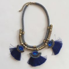 Cobalt Statement Necklace One of my favorite styles! Bold and cobalt! Perfect for the summer with a simple white t-shirt! Jewelry Necklaces