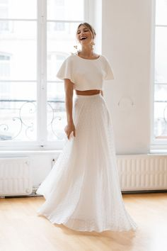 Daisy by Katie Yeung Parisian editorial with campaign creation by Engaged Creative Wedding Dress Finder, 2 Piece Wedding Dress, Dream Wedding Dresses, Boho Wedding Dress, Bridal Dresses, Mermaid Wedding, Ball Dresses, Ball Gowns, Bridal Separates
