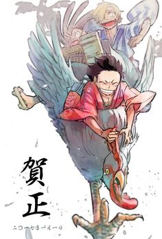 One Piece, Strawhat Pirates, Luffy, Sanji, Usopp