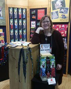 Practical Design owner Tanya Wright at the Toronto Gift Fair Jan 31 - Feb 4, 2016. @cangift #TOGiftFair #Handmade #MadeInCanada #coolingproducts #petproducts #coolingties #coolingpads #thatsmybag #K9cooler #matnip