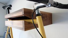 Ideal storage for books and bikes