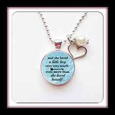 LITTLE BOY, and she loved a little boy, The Giving Tree Quote,  For Mom, New baby boy, loss of child, inspirational for MOM by AnnmarieJewelryTree on Etsy