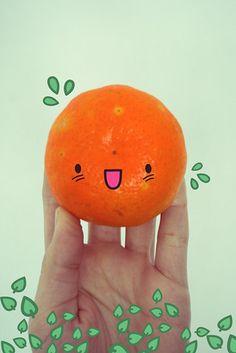 A Happy Orange to crochet or felt up.