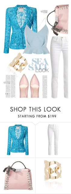 """""""Peekaboo"""" by ildiko-olsa ❤ liked on Polyvore featuring Moschino, Frame, Fendi, Two of Most and River Island"""
