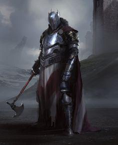 "spassundspiele: ""Tank Knight – fantasy character concept by Damian Audino "" High Fantasy, Fantasy Rpg, Medieval Fantasy, Fantasy Artwork, Armadura Medieval, Inspiration Drawing, Fantasy Inspiration, Fantasy Warrior, Dnd Characters"