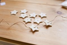 Crafted: DIY star garland - quick & easy Christmas project #1