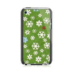 Snowflake Green iPod Touch 4G Case