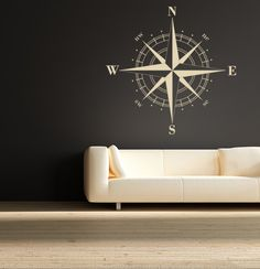 Compass Rose decal for the foyer