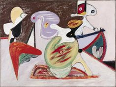 Arshile Gorky, Image in Khorkom, 1936 Art Works, Abstract Expressionism, Cubism Art, Painting, Coloring Books, Art, Art Movement, Abstract, Modern Art Abstract