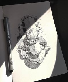 We talk about Art, Design and Architecture, feature talented artists from around the world.Come for the Art and checkout our Apps. Ink Pen Drawings, Drawing Sketches, Baroque Architecture, Sketchbook Inspiration, Urban Sketching, New Art, Amazing Art, Art Reference, Illustration Art
