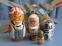 Star Wars Russian nesting dolls!  May the 4th by ContemporaryCaveman on deviantART