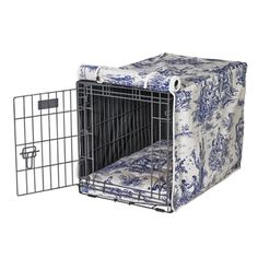 Bowser Wedgewood Toile (white) Luxury Crate Cover
