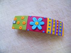 Colors Party - polymer clay barrette by elinor yamin, via Flickr