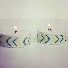 washi tape tealights