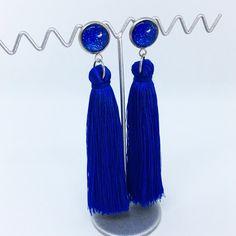 Cobalt Blue tassel earrings - $20AUD - allure style