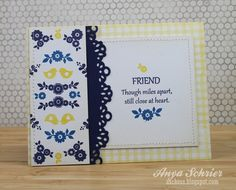 Miles Apart - this card using Folk Art Florals is totally gorgeous!!!