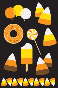 Donut Cut Files + Clip Art - Freebie Friday - Hey, Let's Make Stuff Celebrate National Donut Day (or any day!) with these free donut SVG / DXF cut files and PNG clip art! Nine yummy designs for all of your projects. Halloween Math, Halloween Activities For Kids, Halloween Projects, Halloween Candy, Paper Clip Art, Owl Clip Art, Candy Bulletin Boards, Fabric Pen, Free Candy