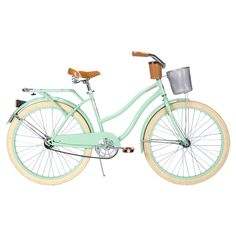 Mint bicycle with basket
