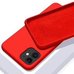 Original Liquid Silicone Luxury Case For Apple iPhone - For iPhone 11 / Red