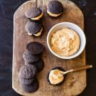 Try the Chocolate-Peanut Butter Whoopie Pies Recipe on williams-sonoma.com/