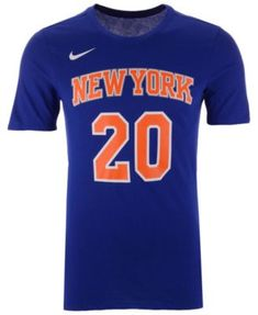 Nike Men s Kevin Knox New York Knicks Icon Player T-Shirt - Blue XL School c6dd55885