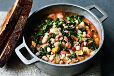 Stella McCartney's winter minestrone recipe - awesome recipe! (i omitted a couple ingredients and added chicken sausage!)