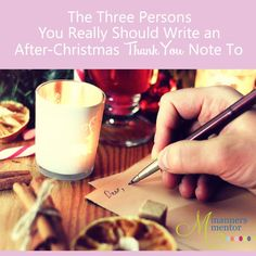 whom to write Christmas thank you notes to