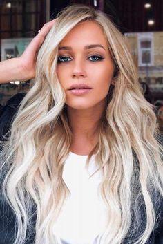 Blonde Hair Blue Eyes Girl Styles ★ See more: http://lovehairstyles.com/blonde-hair-blue-eyes-girl/