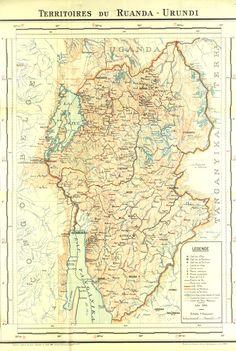 Extremely detailed map of Belgian Rwanda - Burundi, 1938 #map #rwanda #burundu