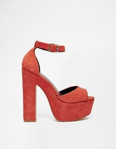 Enlarge River Island Block Heeled Platform Sandals