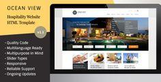 Ocean View - Hotel Website HTML Template . Hotels go to great lengths to provide the perfect ambiance and atmosphere for their customers. However, most hotels overlook the importance of having an accessible website that serves as an alternative gateway to draw customers' interest in staying at their hotel. The website of a hotel needs to