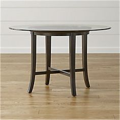 "View larger image of Halo Ebony Round Dining Table with 48"" Glass Top."