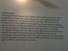 Spitfire engine crashed