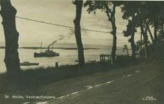 Møre og Romsdal fylke  Molde, Vestnæsfjeldene. Lokalskip. Utg C. A. Erichsen 1934