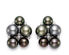 Mastoloni Tahitian Cluster Pearl Earrings! www.Houstonjewelry.com