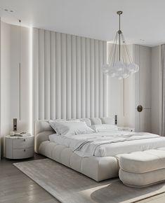 Elegant Bedroom Design, White Interior Design, Bedroom Bed Design, Bedroom Decor, Luxury Bedroom Design, Bedroom Designs, Bedroom Furniture, Master Bedroom Interior, Gold Bedroom