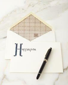 Parker Thatch Scroll Personalized Notecards