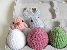Crochet PATTERN Amigurumi Baby Chick Bunny Rabbit and by MevvSan