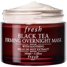 Fresh Black Tea Firming Overnight Mask (2.870 UYU) ❤ liked on Polyvore featuring beauty products, skincare, face care, face masks, moisturizing facial mask, hydrating face mask, moisturising face mask, hydrating mask and facial mask