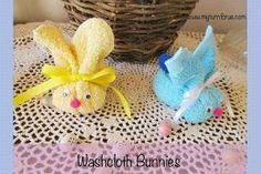 7 of the Best Ostara Crafts on Pinterest: Washcloth Bunnies