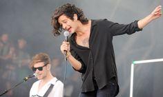 Matt Healy, singer of The 1975 at Glastonbury 2014