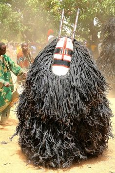 Animist mask, Burkina Faso. Photograph by Gerard Lorriaux