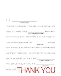 Wedding Thank You Notes Wording Ideas : thank you notes thank you wedding thank you note for on the plates in ...