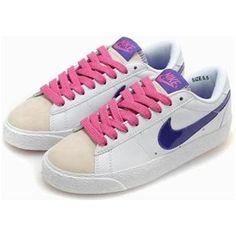 best service 864d4 ba8cf Women Nike Blazer Low Shoes White Purple